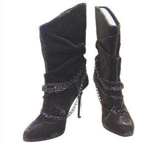 Vogue Into Battle Metallic Heeled Boots-N0174